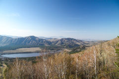 Beautiful mountain landscape with lake in Altai Royalty Free Stock Photos
