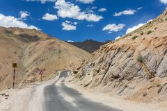 Beautiful mountain landscape on the Manali - Leh road in Ladakh. Jammu and Kashmir, India stock images