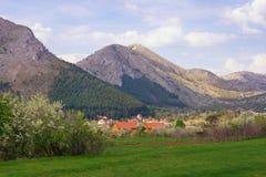 Beautiful mountain landscape. Montenegro, Lovcen National Park. Beautiful mountain landscape. Montenegro,  Lovcen National Park , view of Njegusi village Stock Images