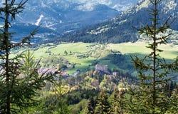Beautiful mountain landscape. Beautiful mountains and Likava Castle - Slovakia stock images