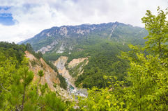 Beautiful mountain landscape. Mountain landscape with beautiful nature and clean air Stock Photography