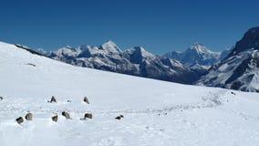 Beautiful mountain landscape near Lake Tilicho, Stock Photo