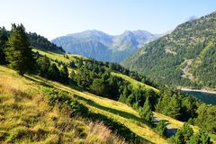 Neouvielle national nature reserve, French Pyrenees. Royalty Free Stock Photos