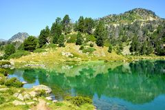 Neouvielle national nature reserve, Lac de Bastan inferieur, French Pyrenees. Stock Image