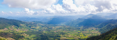 Beautiful mountain landscape in Northern Thailand Royalty Free Stock Photo