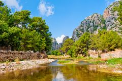 Beautiful mountain landscape of Olympos Royalty Free Stock Photography