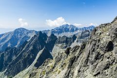 Beautiful mountain landscape. Peak High tatras mountains in Slovakia. royalty free stock photography