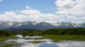 Beautiful mountain landscape stock video