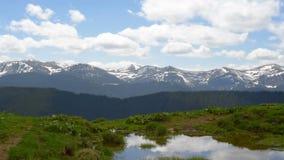 Beautiful mountain landscape stock video footage