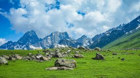 Beautiful mountain landscape of Sonamarg, Jammu and Kashmir state, Stock Images