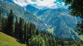 Beautiful mountain landscape of Sonamarg, Jammu and Kashmir state,. India Stock Photography