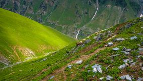 Beautiful mountain landscape of Sonamarg, Jammu and Kashmir state,. India royalty free stock photos