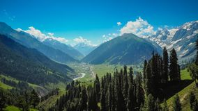 Beautiful mountain landscape of Sonamarg, Jammu and Kashmir state,. India stock photography