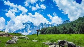Beautiful mountain landscape of Sonamarg, Jammu and Kashmir state,. India stock photo