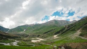 Beautiful mountain landscape of Sonamarg, Jammu and Kashmir state, Royalty Free Stock Photos