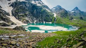 Beautiful mountain landscape of Sonamarg, Jammu and Kashmir state,. India Royalty Free Stock Photo