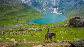 Beautiful mountain landscape of Sonamarg, Jammu and Kashmir state,. India royalty free stock image