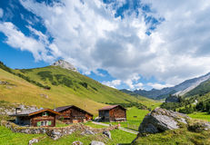 Beautiful Mountain Landscape in the Summer in the Alps, Switzerl Royalty Free Stock Photos