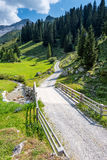Beautiful Mountain Landscape in the Summer in the Alps, Switzerl Stock Photography