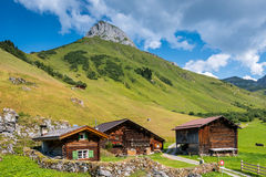 Beautiful Mountain Landscape in the Summer in the Alps, Switzerl Royalty Free Stock Photo