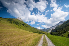 Beautiful Mountain Landscape in the Summer in the Alps, Switzerland Stock Image