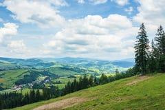 Beautiful mountain landscape in summer stock image