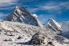 Beautiful mountain landscape in a sunny day. Himalayas. Nepal Stock Photo