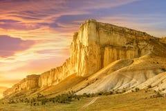 Beautiful mountain landscape at sunset. Royalty Free Stock Image
