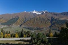 Beautiful mountain landscape in Svaneti. Georgia Stock Photo