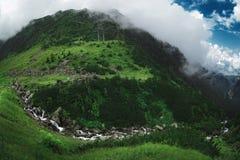 Beautiful mountain landscape in Transfagarasan. Romania. Waterfall. Royalty Free Stock Photos