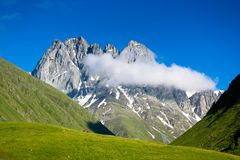 Beautiful mountain landscape in the valley Chauhi Stock Images