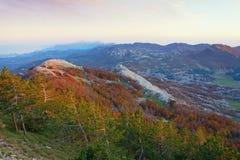 Beautiful mountain landscape. Montenegro, view of Lovcen National Park Stock Photos