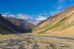 Beautiful mountain landscape in Zanskar valley, Jammu Kashmir, I Royalty Free Stock Photos