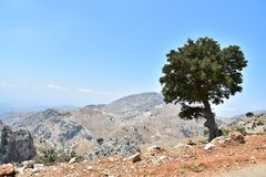 Beautiful Mountain Landscapes In Crete. Greece Royalty Free Stock Image