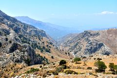 Beautiful Mountain Landscapes In Crete. Greece Royalty Free Stock Photos