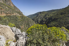Beautiful mountain landscapes at Preveli in Crete, Greece Royalty Free Stock Photos