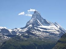 Beautiful mountain Matterhorn , Swiss Alps Royalty Free Stock Photos