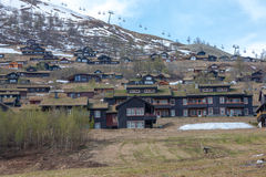 Beautiful mountain. Mount Ulriken, Bergen Norway Royalty Free Stock Photo