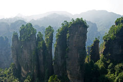 The beautiful mountain. The mountain、Mountain peaks、zhangjiajie、attractions、The scenery、The beautiful Royalty Free Stock Image