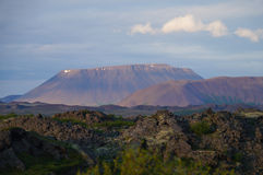 Beautiful mountain at Myvatn lake area, Iceland Royalty Free Stock Photography