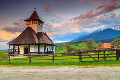 Beautiful mountain Orthodox Monastery,Bran,Transylvania,Romania,Europe Royalty Free Stock Image