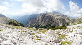 Beautiful mountain panorama - marmolada glacier Royalty Free Stock Images