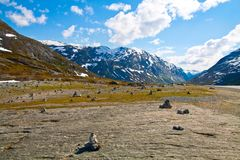 Beautiful mountain pass in Norway Royalty Free Stock Image
