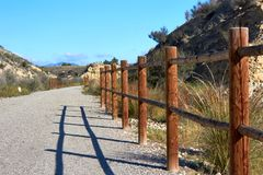 Beautiful mountain path for jogging, great design for any purposes royalty free stock images
