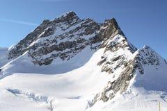 Beautiful mountain peak. The Alpes, Switzerland winter, rock, landscape Royalty Free Stock Photo