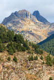 Beautiful mountain peaks in Andorra Stock Images