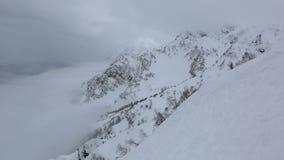 Beautiful mountain peaks of Caucasus Mountains stock video footage