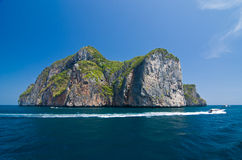 Beautiful Mountain at Phi Phi Island Royalty Free Stock Image