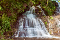 High mountain waterfall Royalty Free Stock Photo