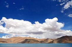 Beautiful mountain range along Pangong Lake, HDR Stock Photos